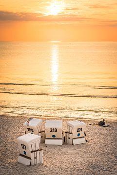 Gouden zonsondergang op Sylt van Christian Müringer