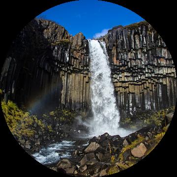 Black Waterfall van Freek van den Driesschen