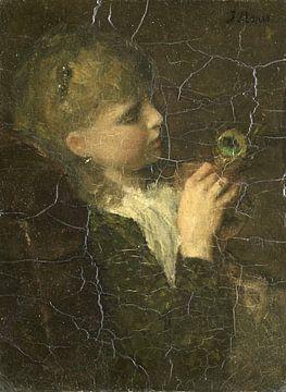Mädchen mit Pfauenfeder, Jacob Maris