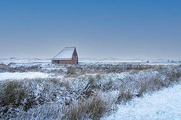 Schapenboet in de winter van Everydayapicture_byGerard  Texel