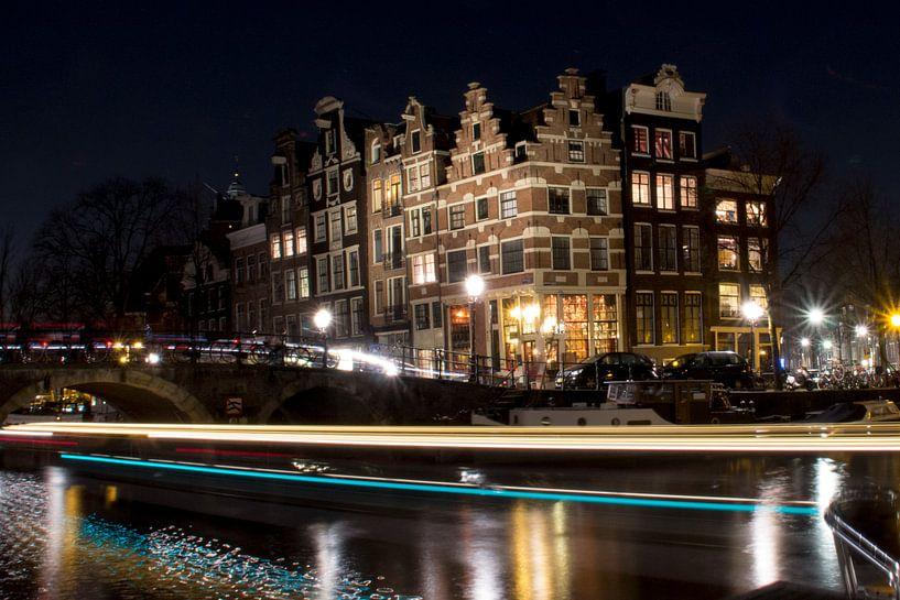 Amsterdam bij nacht von Rutger Leistra