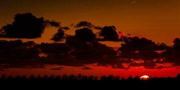 Zonsondergang in Zeeland (Oude-Tonge) sur Elly Damen