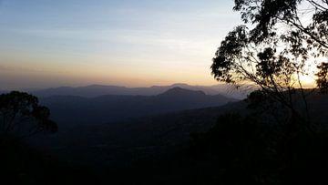 zonsondergang Ethiopie van Joelle van Buren