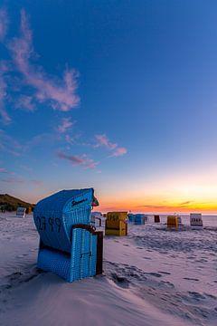 Sonnenuntergang am Strand von Juist von Dirk Rüter