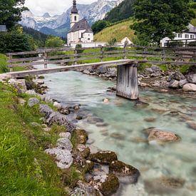 Pfarrkirche St. Sebastian im Bergsteigerdorf Ramsau von Deimel Fotografie