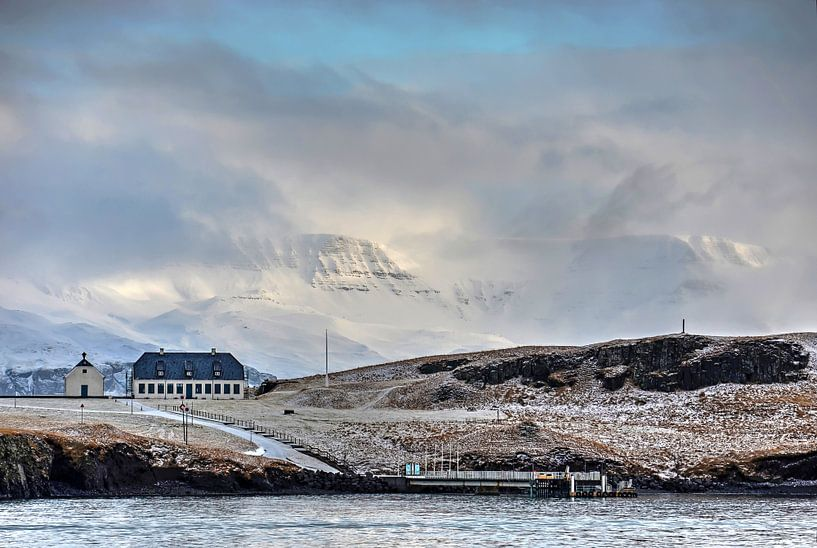 Winter op Viðey  van Frans Blok
