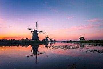 Zonsopkomst Kinderdijk 12 van Henk Smit