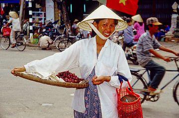 Asia Woman - analoge fotografie! van Tom River Art