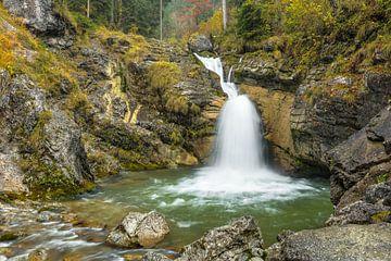 Kuhflucht waterfalls in Bavaria van