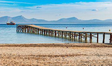 Baai van Alcudia op Mallorca, Spanje Balearen van Alex Winter