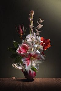 Blumenstillleben Amaryllis Stolz von Sandra Hazes