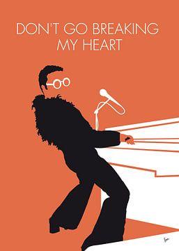 No053 MY ELTON JOHN Minimal Music poster van