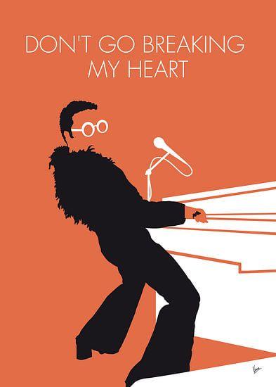 No053 MY ELTON JOHN Minimal Music poster van Chungkong Art