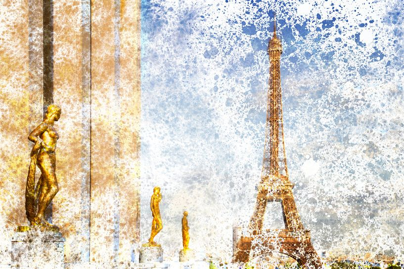 City-Art PARIS Eiffel Tower & Trocadero van Melanie Viola