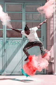 Skater - Kickflip mit Holipulver van Felix Brönnimann