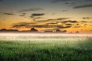Zonsondergang in zeeland. van Bas Holtrop