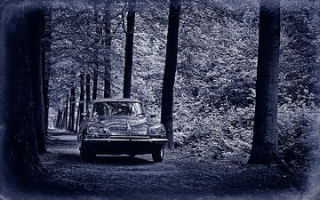 Citroën DS 23 Pallas Retro Blauw van Wim Schuurmans