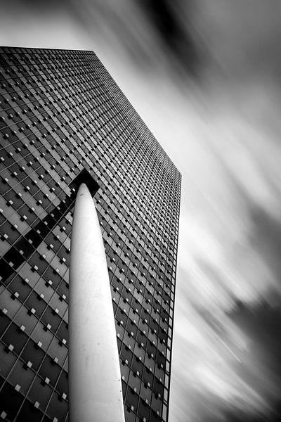 KPN gebouw zwart wit van Prachtig Rotterdam