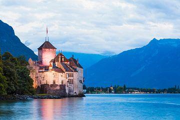 Chillon Castle at Lake Geneva in Switzerland sur Werner Dieterich