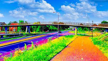 Fiets- en voetgangersbrug De Krul van Digital Art Nederland