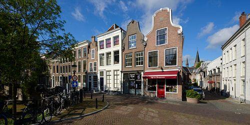 Hoek Oudegracht en Geertestraat in Utrecht