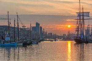 Zonsondergang tijdens Sail van
