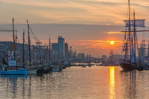 Zonsondergang tijdens Sail