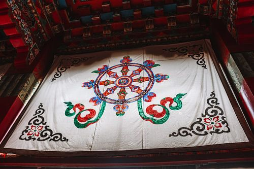 Tibetaans gelukssymbool: het Dharmawiel
