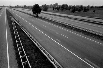 Elst 25-06-1988. Die Autobahn A52 (A325) ist wegen des Fußball-Europacup-Finales Sowjetunion-Niederl von Ger Loeffen