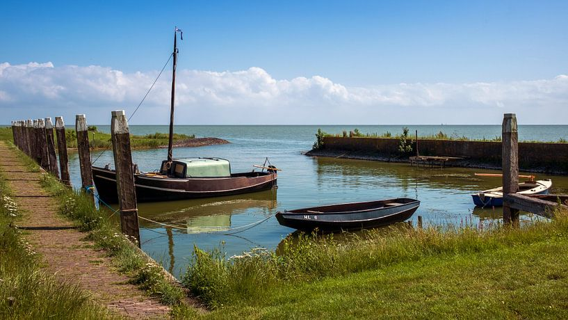 Vieux port de pêche de Laaksum sur Martin de Bock