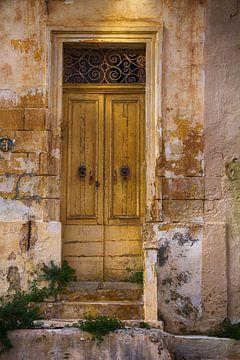Oude gele deur van Yke de Vos