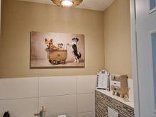 Klantfoto: Hondenfamilie, Shih tzu en Gorki van Wendy van Kuler, op canvas