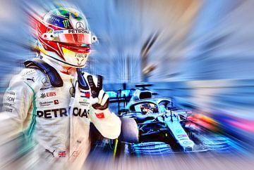 LH44 - World Champion 2019 - Lewis Hamilton van Jean-Louis Glineur alias DeVerviers
