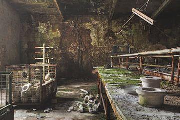 Arbeitstisch in Keramik von Perry Wiertz