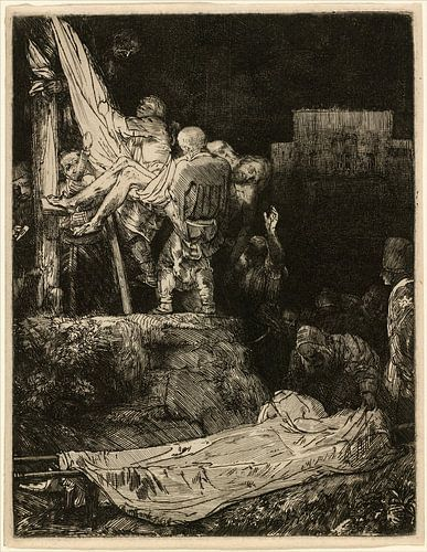 Rembrandt van Rijn, Die Kreuzabnahme bei Fackelschein von Rembrandt van Rijn