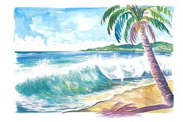 Grand Anse Strand Swell Grenada Karibik Insel von Markus Bleichner