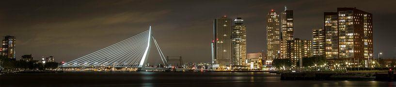 Panoramic view of the skyline of Rotterdam sur Miranda van Hulst