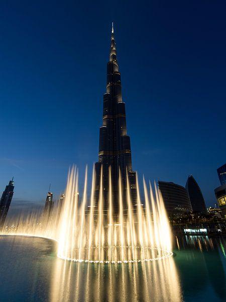 Burj Khalifa Fontein van Bob de Bruin