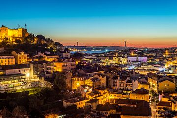 Avond over Lissabon van