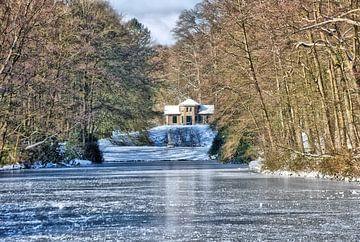 De vijver in Park Zypendaal op een winterse ochtend. van Jurjen Jan Snikkenburg