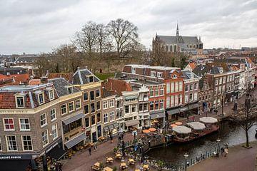 Le vieux centre-ville de Leiden à la Nieuwe Rijn.