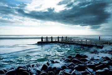 Kruiend ijs  Afsluitdijk von Marloes Bogaarts
