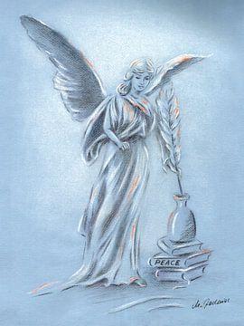 Engel des Friedens - Engelkunst von Marita Zacharias