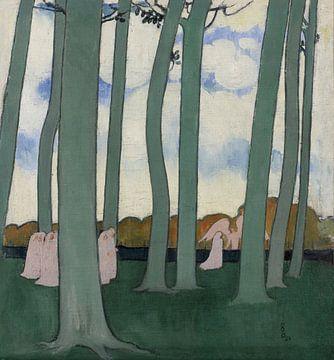 Maurice Denis, Landschaft mit grünen Bäumen, 1893 oder Prozession zwischen den Bäumen