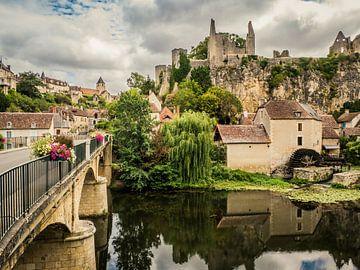 Ansicht von Angles-sur-l'Anglin, Frankreich von Art By Dominic
