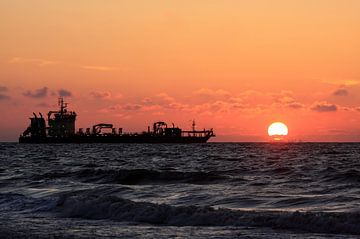 Schiff auf der Nordsee von MSP Canvas