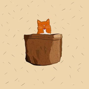 Chat dans le sac sur Jeroen Win