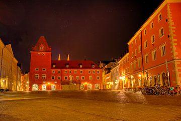 Haidplatz Regensburg bij nacht van Roith Fotografie