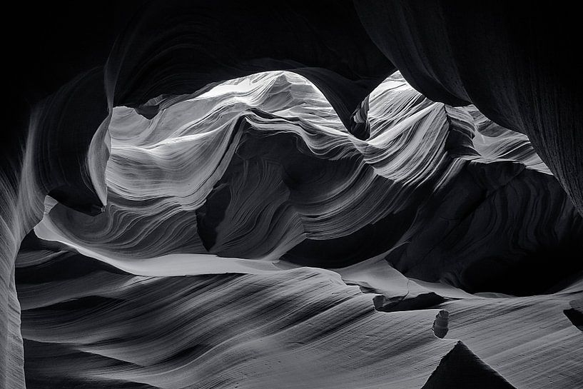 Antelope Canyon #1 van Jaap van Lenthe