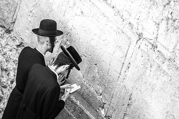Jeruzalem / Klaagmuur / Zwart-wit  / Reisfotografie van Jikke Patist